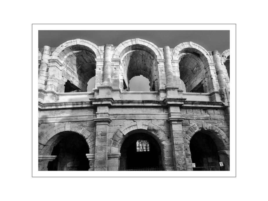 view of Arles coliseum