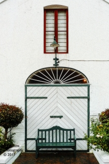 doorway with a face