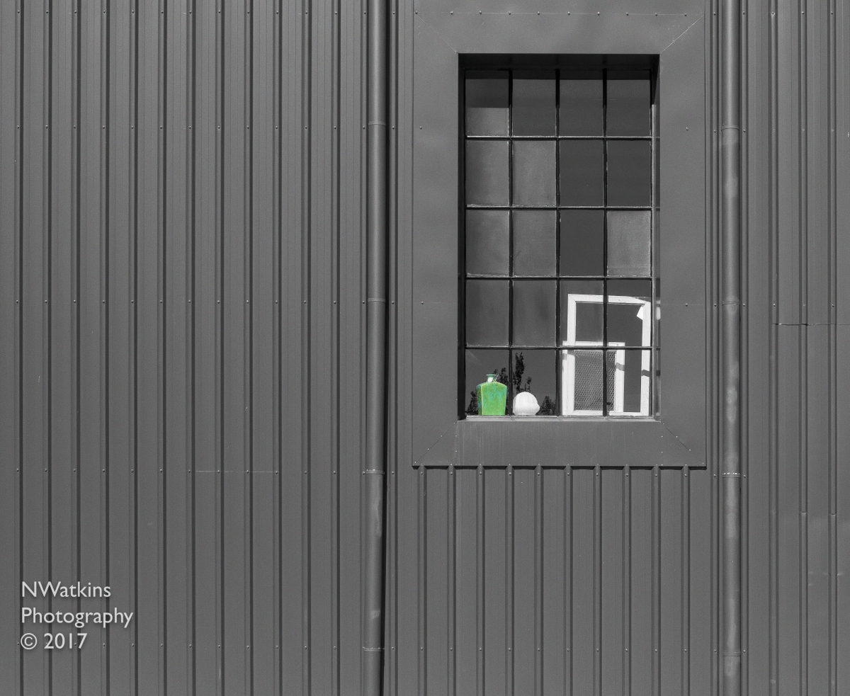 window with green vase cw