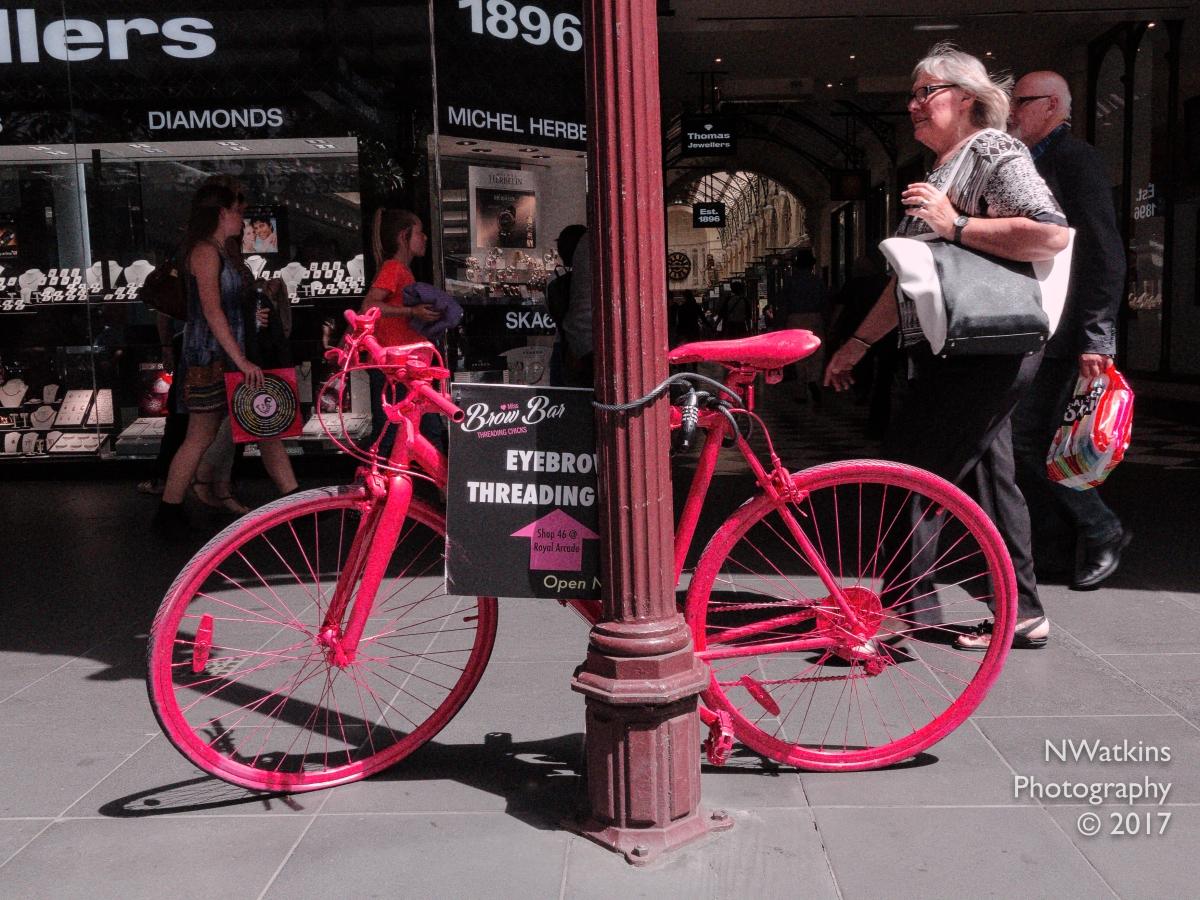 pink bicycle-brow bar cw
