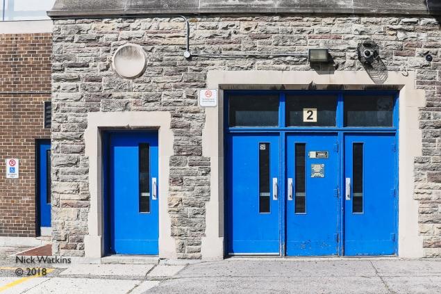 Central Tech blue doors