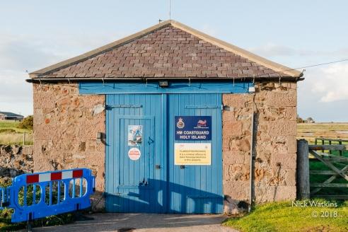 Holy Island Coastguard shed