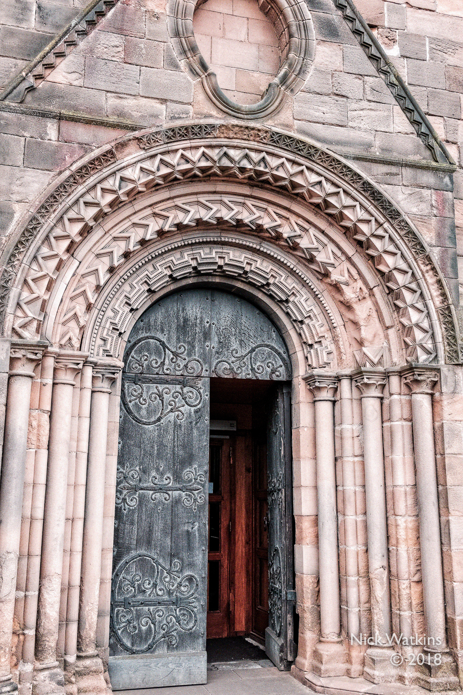 d32-Durham cathedral front entry cw